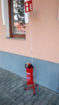 Állványos tűzoltó készülék tartó