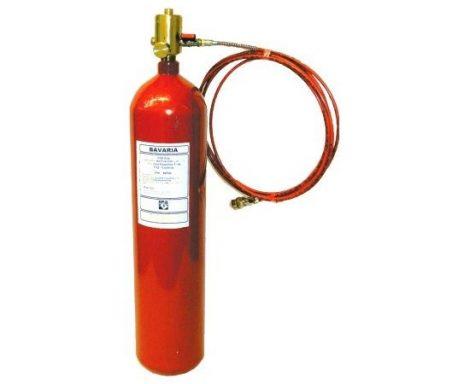 BAVARIA FireDeTec oltórendszer - 2kg CO2 gázzal oltó, 8 méter tömlő