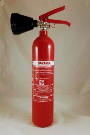 BAVARIA 2 kg-os Szén-dioxiddal, Gázzal oltó tűzoltó készülék 34B - SIGMA német