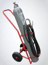 BAVARIA 30 kg-os Szén-dioxiddal, Gázzal oltó szállítható tűzoltó készülék 3x114B - SIGMA 30 KEREKES KOCSIN