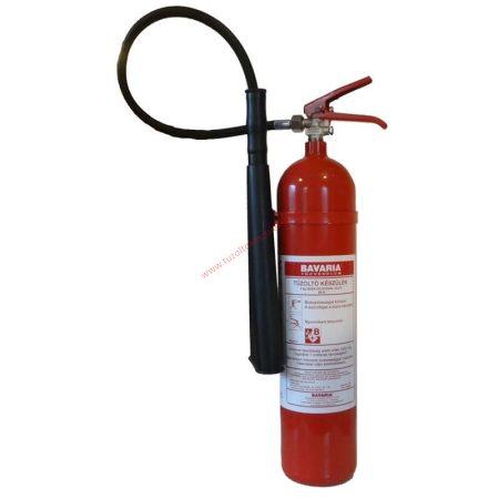 BAVARIA 5 kg-os Szén-dioxiddal, Gázzal oltó tűzoltó készülék 89B - SIGMA + FALI FÜGGESZTŐ