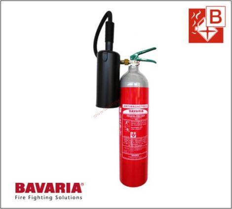 BAVARIA SIGMA AM 5 kg-os Szén-dioxiddal, Gázzal oltó tűzoltó készülék 89B  - NEM MÁGNESEZHETŐ!
