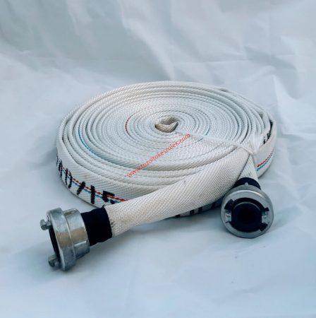 1 col - D-25 nyomótömlő, 45 bar - tűzoltó / ipari / öntöző lapos tömlő kapcsokkal szerelve, 20 méter DOBRA