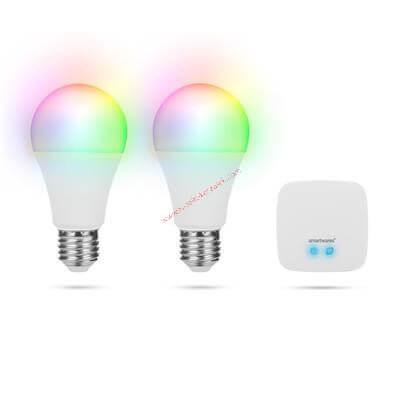 Smartwares Pro Okosotthon intelligens állítható színű izzókészlet (2 izzó + 1 főegység)