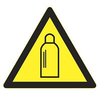 Gázpalack - Figyelmeztető jel IMPLASER - 9x9 cm átlátszó öntapadó