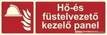 HŐ ÉS FÜSTELVEZETŐ KEZELŐ PANEL felirat - Tűzvédelmi jel, Utánvilágító műanyag tábla 30x10 cm, 0,7 mm vastag - IMPLASER B150