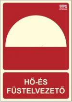 HŐ ÉS FÜSTELVEZETŐ KÉZI INDÍTÓ - Tűzvédelmi jel, Utánvilágító műanyag tábla 15x21 cm, 0,7 mm vastag - IMPLASER B150