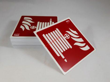 Tűzcsap, Utánvilágító biztonsági jel tábla 15x15 cm - IMPLASER B150