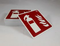 Tűzoltó készülék, Utánvilágító műanyag biztonsági jel tábla 15x15 cm - IMPLASER B150