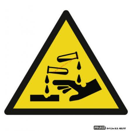 Maró anyag! - Figyelmeztető jel IMPLASER - 9x9 cm átlátszó öntapadó