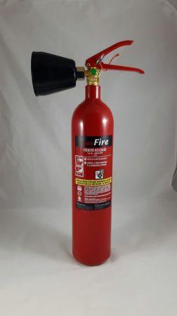 2 kg-os Szén-dioxiddal oltó, gázzal oltó tűzoltó készülék 34B - MAXFIRE