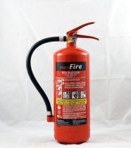 4 kg-os porral oltó ABC tüzekre 27A 144B C teljesítmény - maxFire AKCIÓS + fali függesztő ajándékba