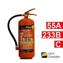 6 kg-os porral oltó ABC tüzekre 55A 233B C maximális teljesítmény - maxFire - 12 kg-os helyett