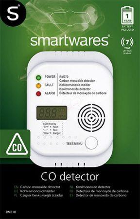 SMARTWARES RM370 szén-monoxid jelző és érzékelő (CO) (7 év garancia - LCD)