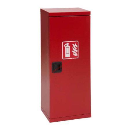 Tűzoltó készülék szekrény, fém, műanyagzáras, 6 kg-os készülékhez 600x250x190