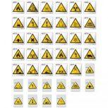 Figyelmeztető jelek (munkavédelem - sárga)