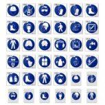 Rendelkező jelek (munkavédelem - kék)